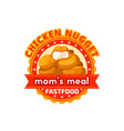 fast food chicken nuggets restaurant icon vector image