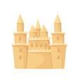 flat icon of huge sand castle with towers vector image vector image