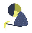 flat icon on stylish background coal and hammer vector image