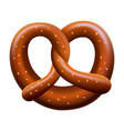 fresh pretzel mockup realistic style vector image vector image