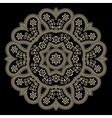 Gold lace doily vector image