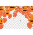 halloween balloon banner on orange background vector image vector image