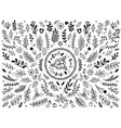 hand drawn flowers ornament ornamental sketch vector image