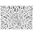 Hand drawn flowers ornament ornamental sketch