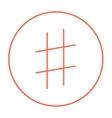 Hashtag symbol line icon vector image vector image