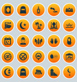 holiday icons set collection of khutbah food vector image vector image