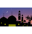 Horizontal cityscape arab city night banners vector image