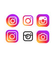 instagram logo for web and print vector image