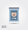 jar of baby food vector image vector image