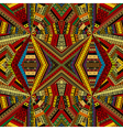 Kaleidoscope made of ethnic patchwork fabric vector image vector image
