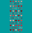 love background symbol heart i love you vector image vector image