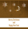 merry christmas and happy new year postcard vector image vector image