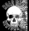motorcycle skull tee graphic design vector image