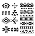 Navajo print Aztec pattern Tribal design element vector image vector image