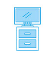 nightstand with tv plasma isolated icon vector image vector image