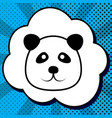 panda sign black icon in vector image