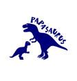 papa dinosaur with baby dinosaur t shirt print