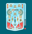 pinball machine funny game ball spare strike vector image vector image