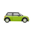 realistic compact car in vector image
