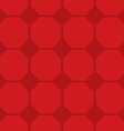 Red checkered octagons vector image