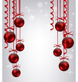 red xmas balls vector image
