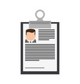 resume or curriculum vitae cv icon image vector image