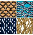 rope seamless patterns set trendy wallpaper vector image