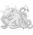 Sea pirate octopus vector image