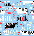 seamless advertising pattern with cows vector image