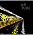 skid marks vector image