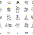 slogans for new year seamless pattern vector image
