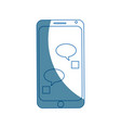 smartphone bubble chat dialog device technology vector image