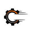 speed gear letter o c vector image vector image