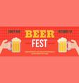 stylish web oktoberfest banner vector image vector image