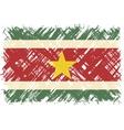Surinamese grunge flag vector image