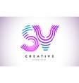 sv lines warp logo design letter icon made vector image vector image