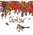 Thank You Hand Drawn Greeting Card vector image vector image