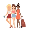 Vacation girls friends vector image vector image