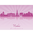 Vaduz skyline in purple radiant orchid vector image vector image