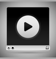 video player template white color scheme vector image