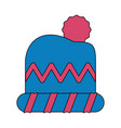 winter clothes icon image vector image