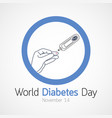 world diabetes day icon vector image
