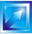 blue arrow icon vector image