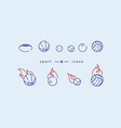 creative set of icons on sports balls vector image