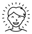 Happy Healthy Man Icon vector image