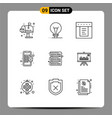 9 universal outlines set for web and mobile