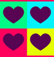 a set of hearts in bright colors set vector image vector image