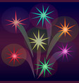 abstract fireworks in the form of stars vector image