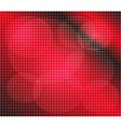 Abstract red dots on dark background vector image vector image