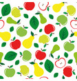 apple and pear seamless pattern white background vector image vector image